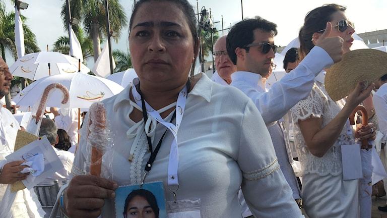 Marta Ines Perez dotter försvann spårlöst för sex år sedan. Hon hoppas att fredsavtalet gör det möjligt att få reda på sanningen om dottern Ingrid.