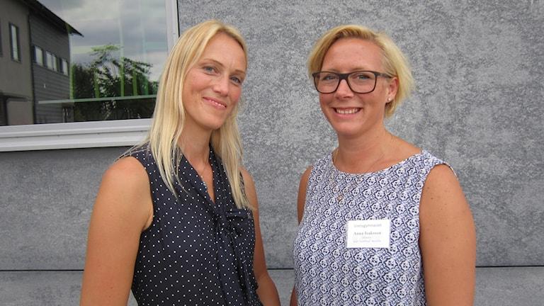 Annika Gabrielsson och Anna Isaksson är heltidsmentorer på Vretagymnasiet i Linköping.