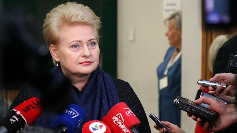 Dalia Grybauskaite. Foto: Petras Malukas/TT.