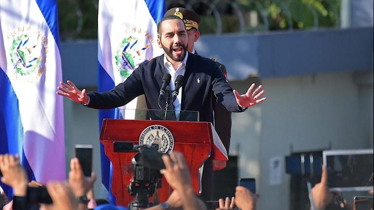 El Salvadors president Nayib Bukele.