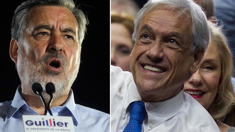 Alejandro Guillier och Sebastián Piñera