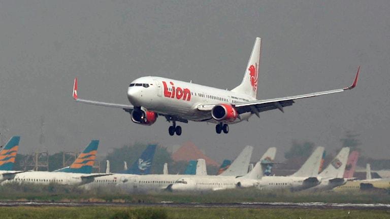 Arkivbild av ett Lion air-flygplan.