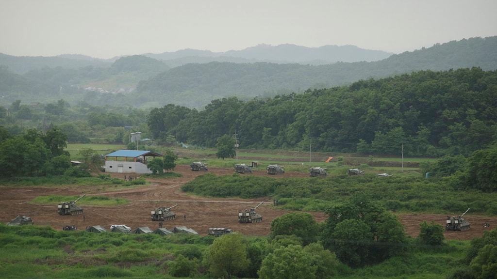 Gränsen mellan Nord- och Sydkorea