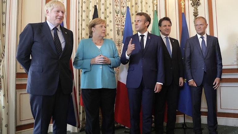 Världens ledare på G7-mötet i Biarritz.