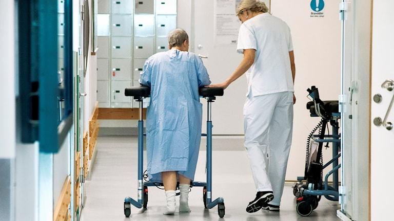 En sjukhuskorridor (arkivbild).