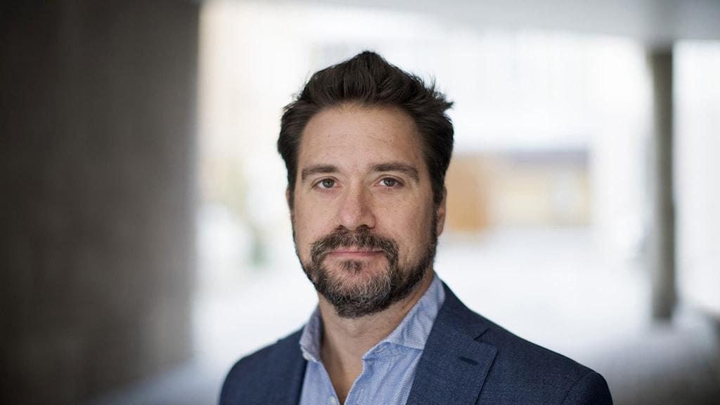 Erik Halkjaer, ordförande för Reportrar utan gränser Sverige
