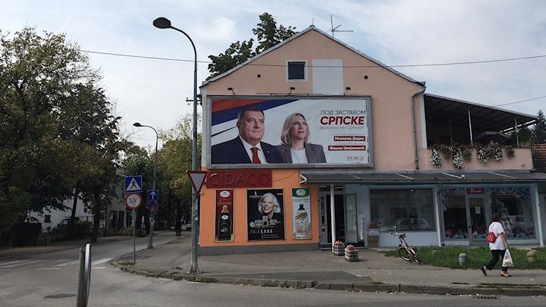 Milorad Dodik, den Bosnienserbiska presidentens ledare, har länge byggt sitt stöd på sin nationalistiska retorik.