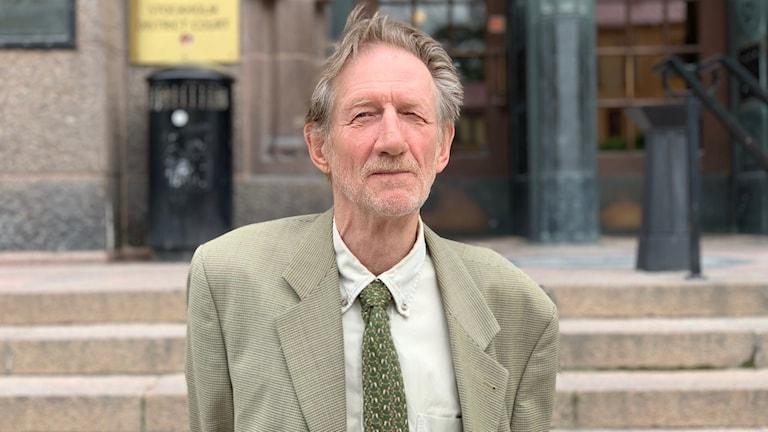 Lars Erik Larsson som fått 1200 kronor i skadestånd av staten.