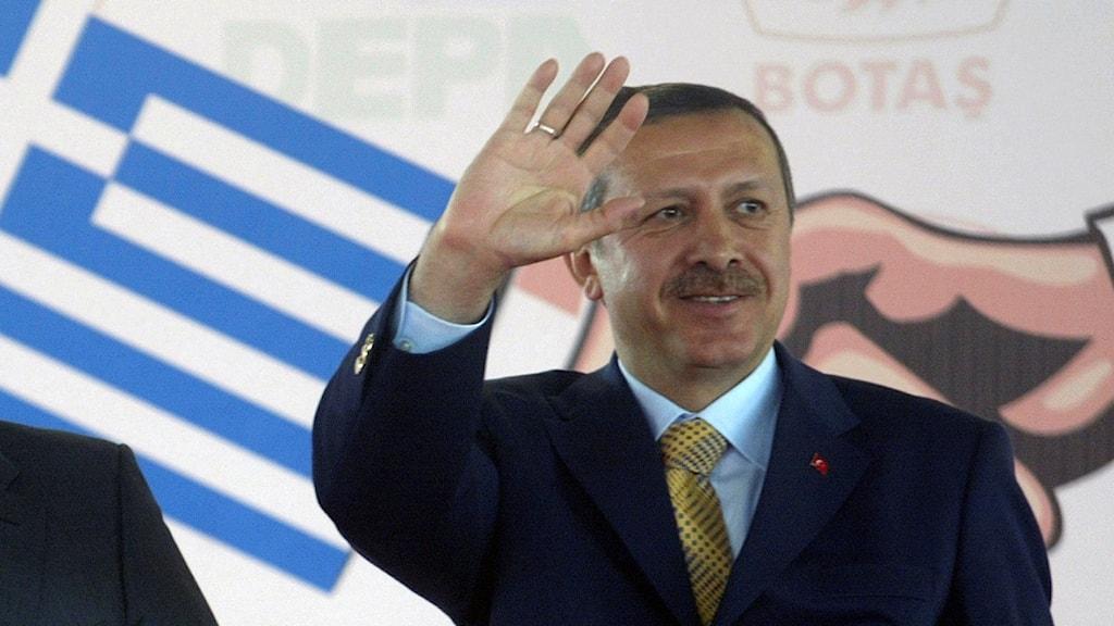 Tayip Erdogan Grekland
