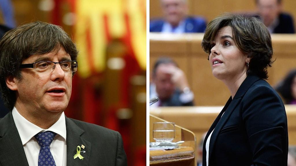 Regionpresidenten Carles Puigdemont är avsatt och Spaniens vizepremier Soraya Saenz de Santamaria styr.