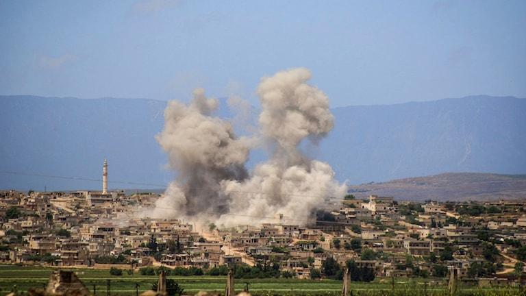 Bombattack i Idlib