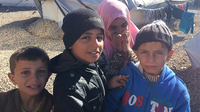 Flyktingläger i Irak.
