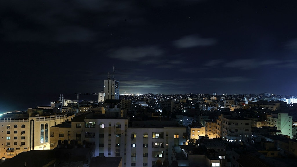 bild på byggnader i gaza
