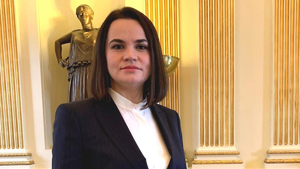 Den tidigare belarusiska presidentkandidaten Svetlana Tichanovskaja