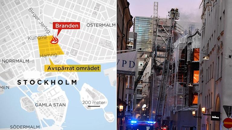 Karta, Stockholm, brand