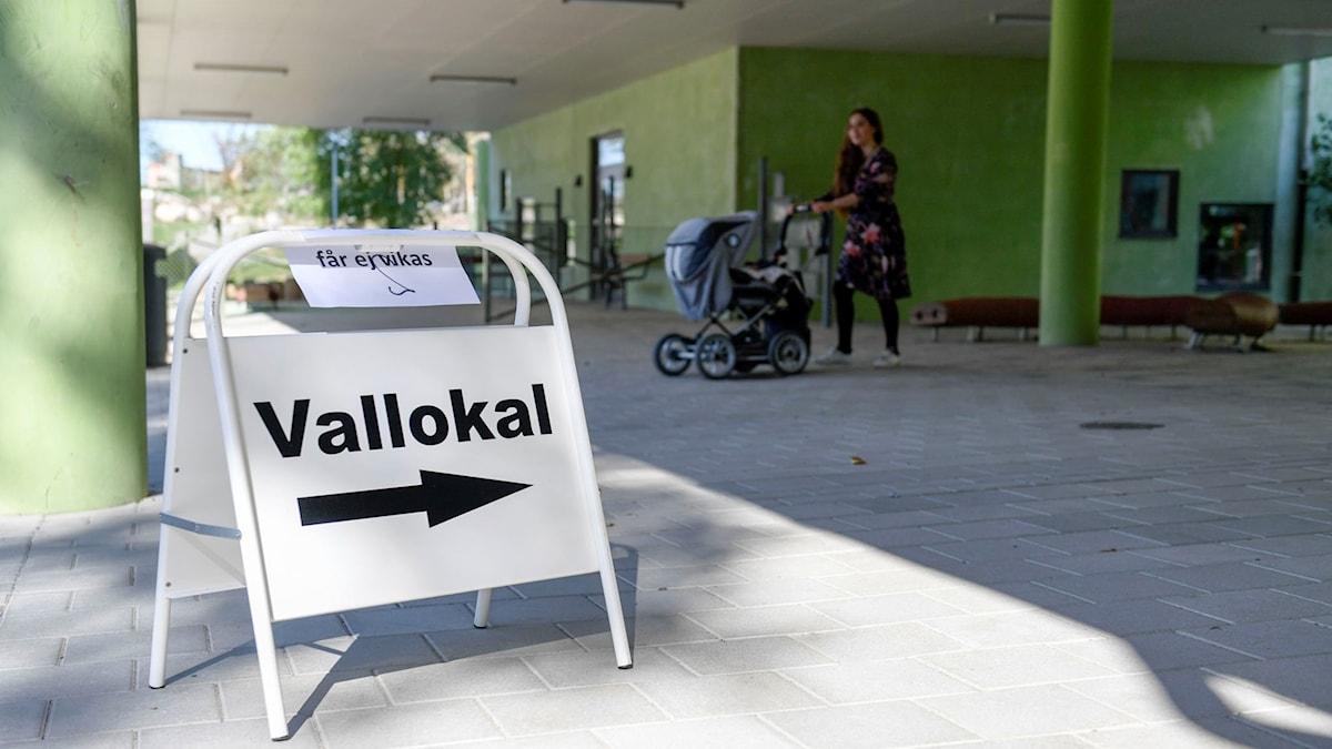 Vallokal. Här: Stora Ursvik, Stockholm (arkivbild). Foto: Pontus Lundahl/TT.