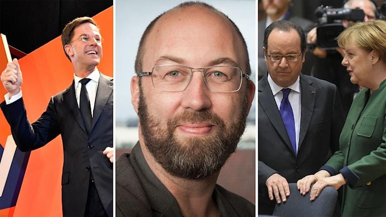 Mark Rutte, Jens Möller, François Hollande, Angela Merkel
