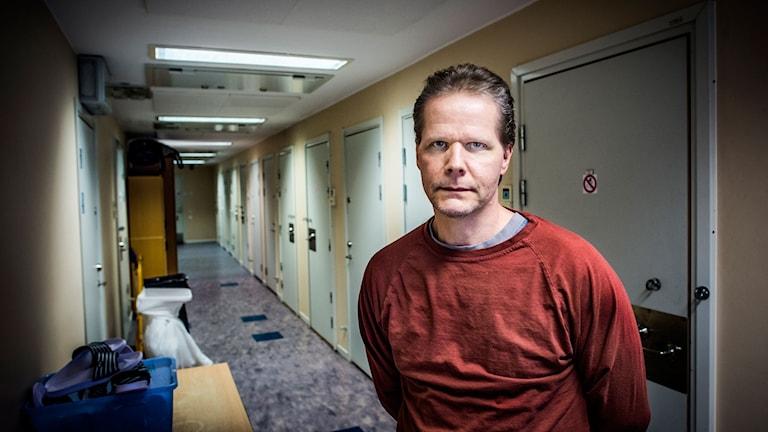 Livstidsdömde Kaj Linna på Norrtäljeanstalten har suttit i fängelse i elva år, dömd för mord. Foto Magnus Hallgren / DN / TT