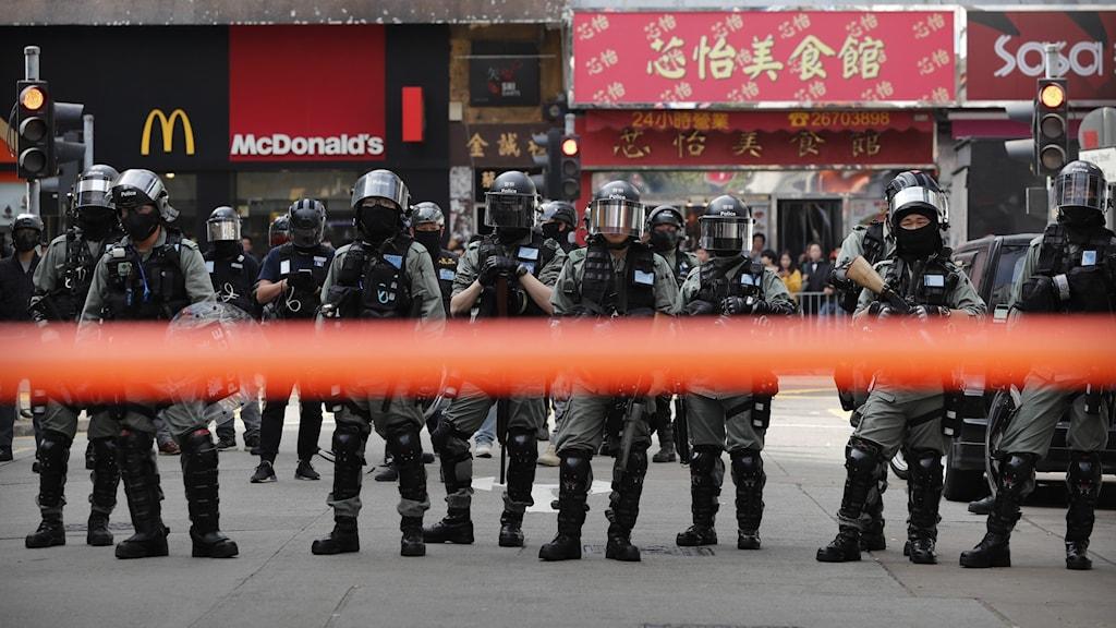 Poliser i Hongkong
