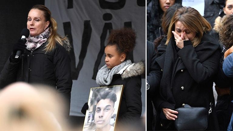 Mammor protesterar mot dödsskjutningarna