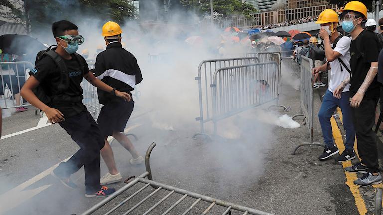 Sammandrabbningar i Hongkong