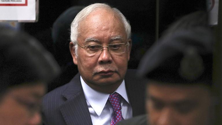 Före detta premiärminister Najib Razak.