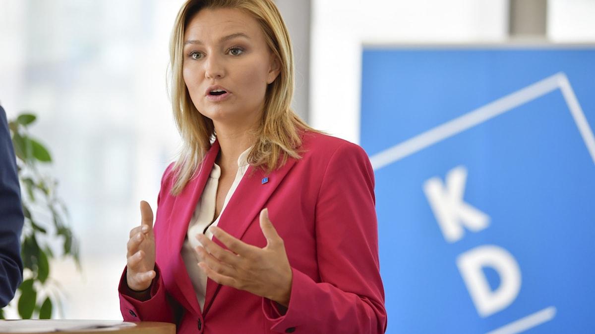 Kristdemokraternas partiledare Ebba Bussh.