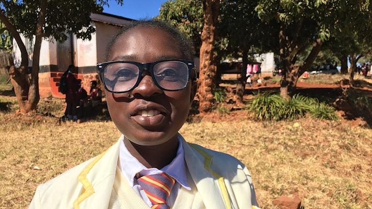 Elina Mbofana, 18 år, förstagångsväljare i Zimbabwe