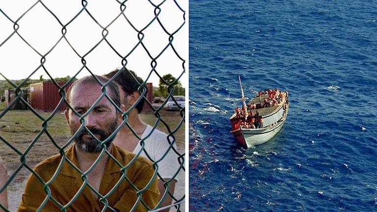 Båtflyktingar hamnar på lägret i Nauru