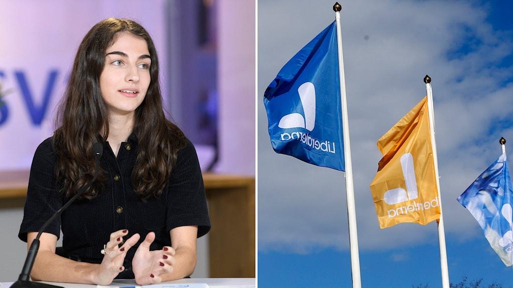 Romina Pourmokhtari, ordförande i Liberalernas ungdomsförbund.
