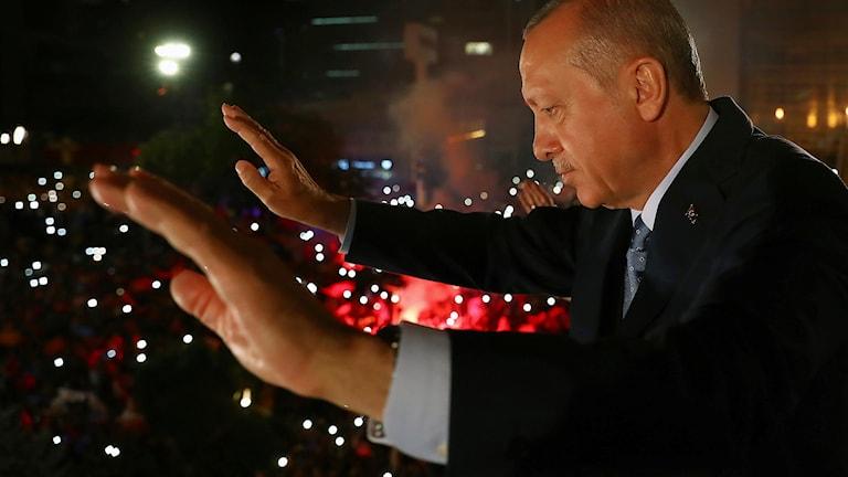 Recep Tayyip Erdogan sitter kvar på posten som Turkiets president.