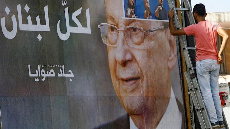 Den 81-årige generalen Michel Aoun kan bli presidenten.