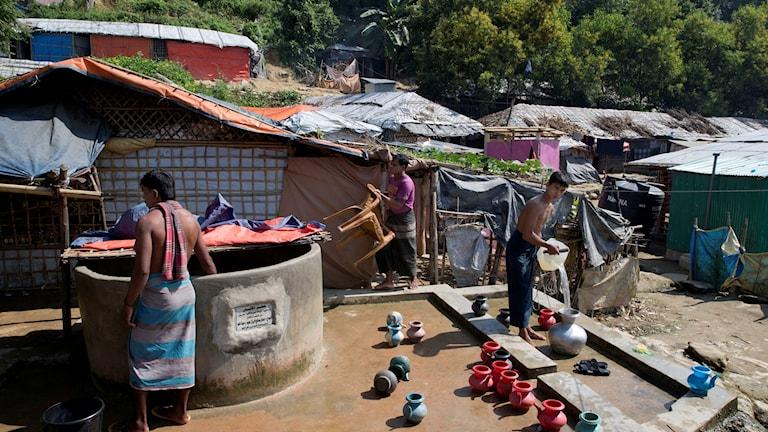 Ett flyktingläger för rohingyer