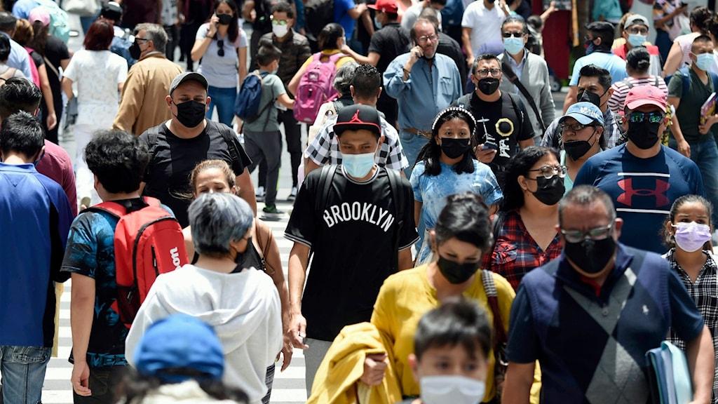 Människor i Mexico city.