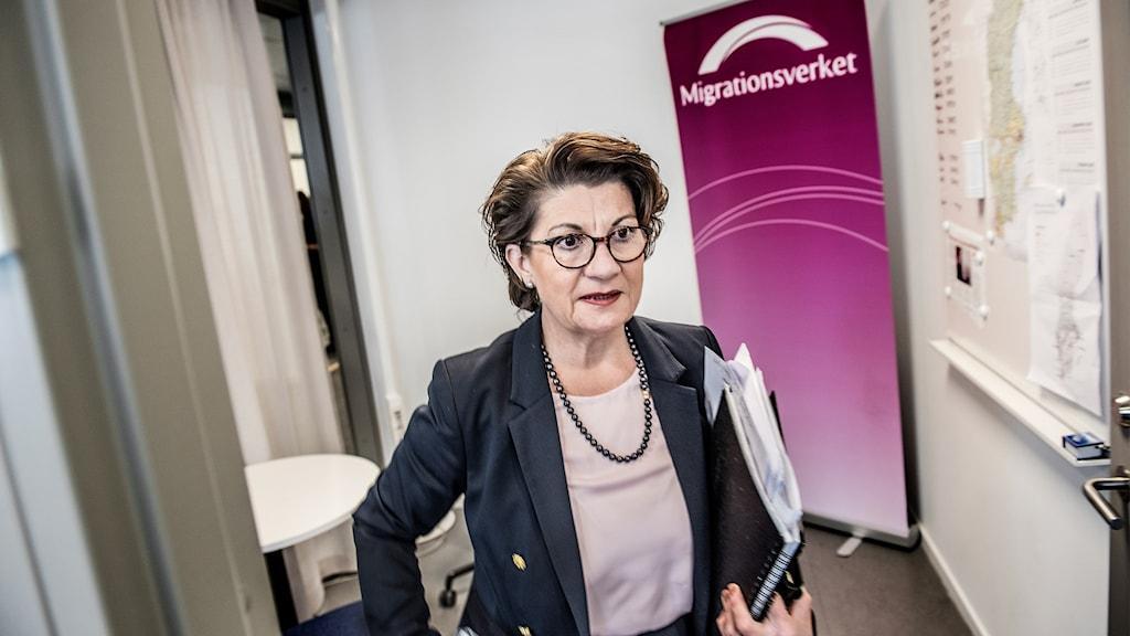 Angeles Bermudez-Svankvist, fd generaldirektör för Arbetsförmedlingen. Nu på nytt jobb hos Migrationsverket.