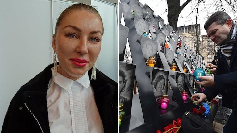 """Natalija Sevidova, chef för ukrainska frivilligorganisationen """"Bridge EU-Ukraine"""" i Bryssel. Foto: Maria Persson Löfgren"""