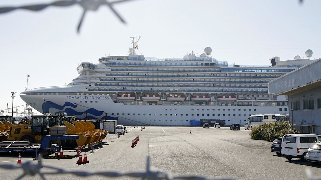 Fartyget utanför Yokohama.