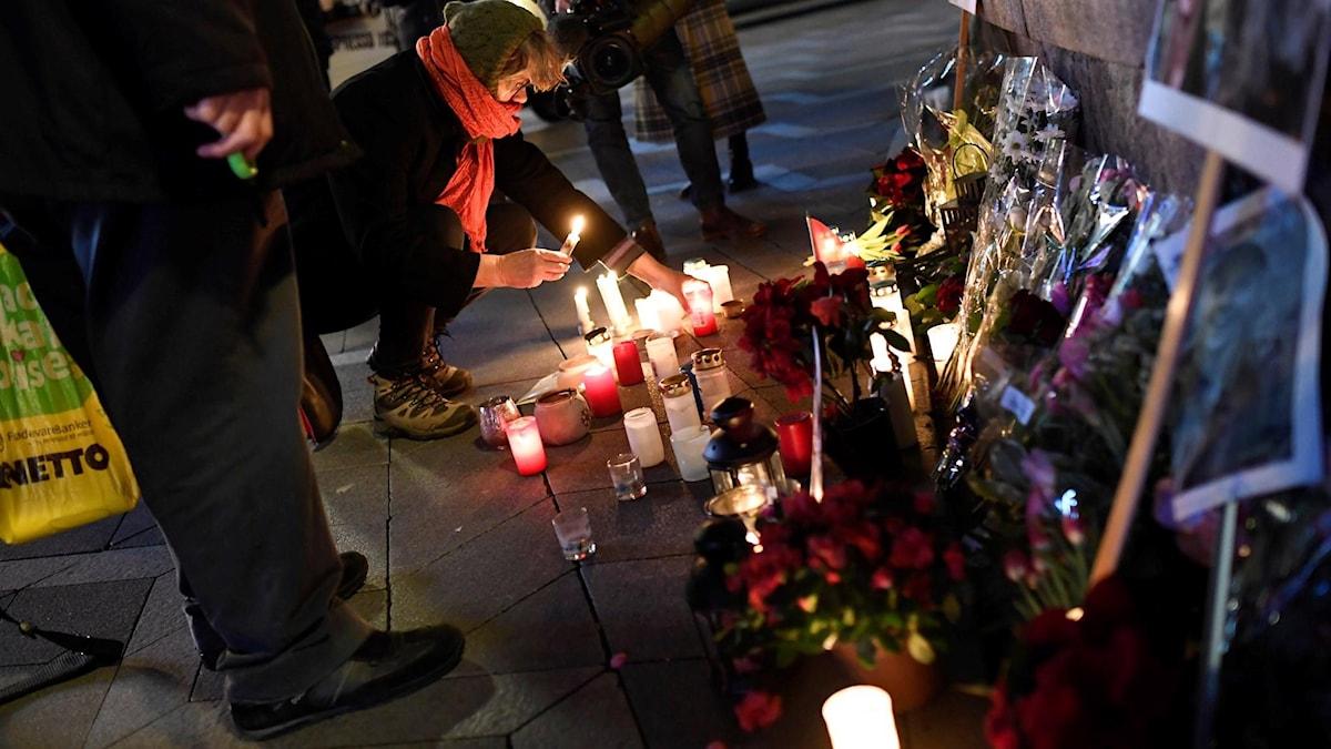 Minnesceremoni för offren i Köpenhamn i december 2018. Foto: Thomas Sjørup/TT.