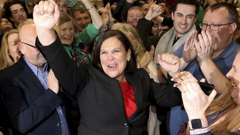 Sinn Feins ordförande Mary Lou McDonald.