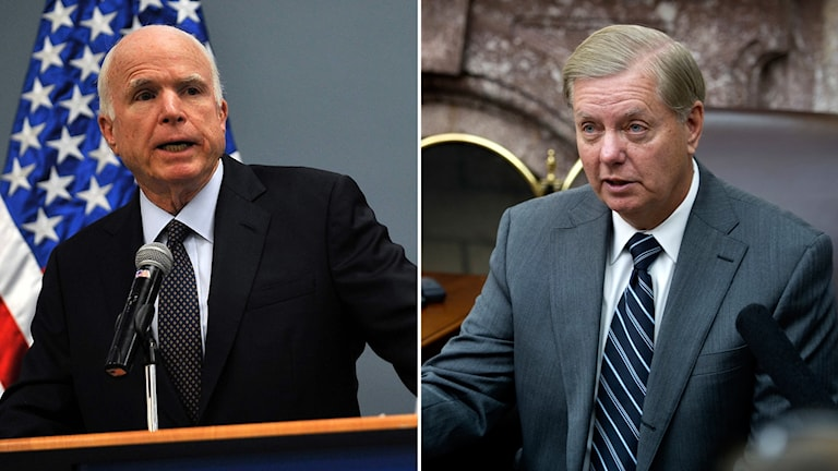 Bildkollage med John McCain och Lindsey Graham.
