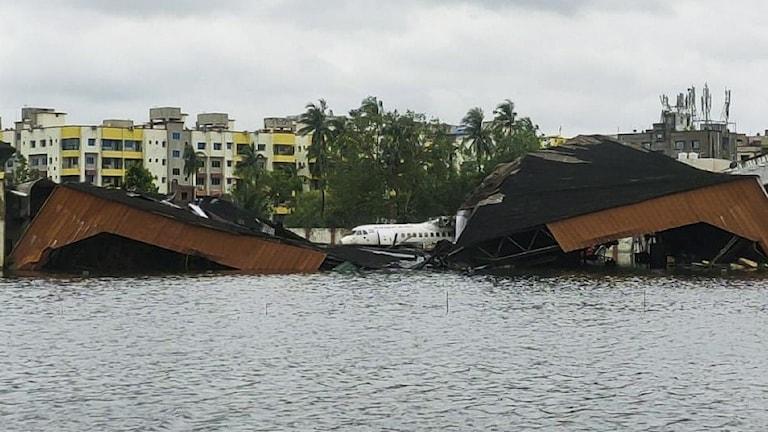Förödelse efter cyklonen Amphan i Bangladesh.