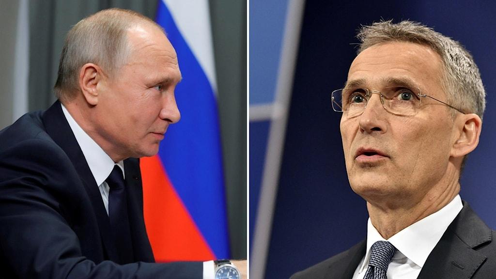 Relationen med Ryssland i fokus på Nato-möte.