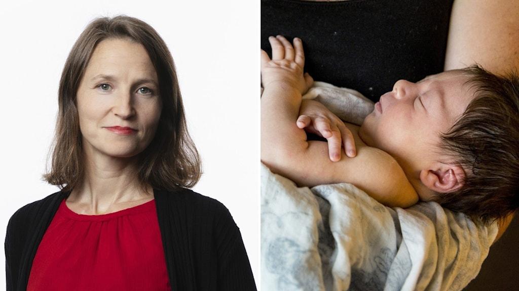 Sara Heyman, Sveriges Radios korrespondent för global hälsa, om ovanligt många RS-fall i Europa. Foto: Sveriges Radio/Cristine Ohlsson/TT.