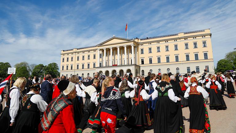 17 maj-firande i Oslo, vid slottet 2019.