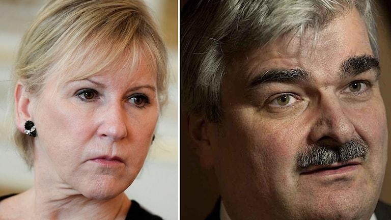 Margot Wallström och Håkan Juholt.
