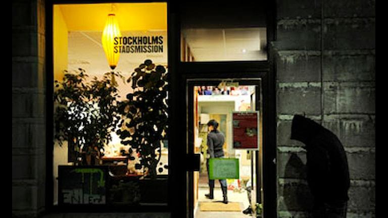 Xarunta stadsmission ku leedahay oo loogu talo-galay da'yarta hooy la'aanta ah. Foto: Malin Hoelstad/Scanpix.