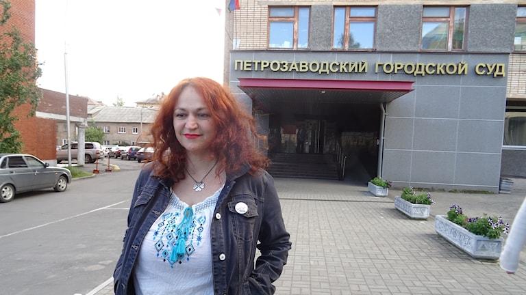 Den ryska journalisten Natalia Sevets Jermolina