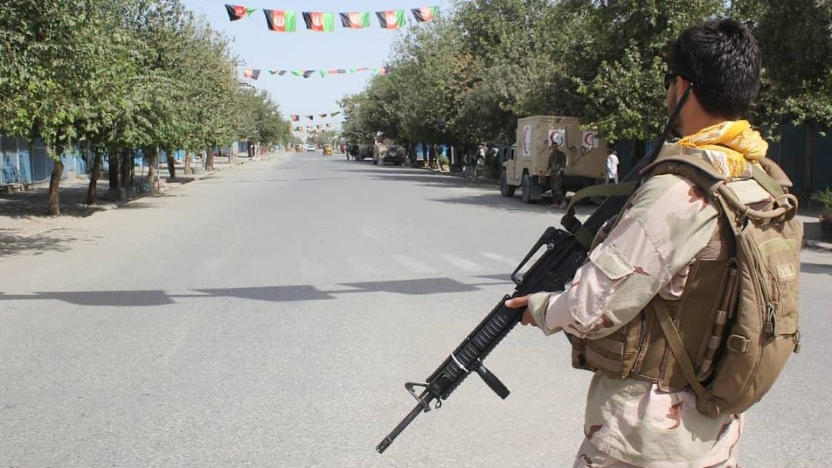 Afghanska säkerhetsstyrkor i Kunduz-provinsen. Arkivbild.