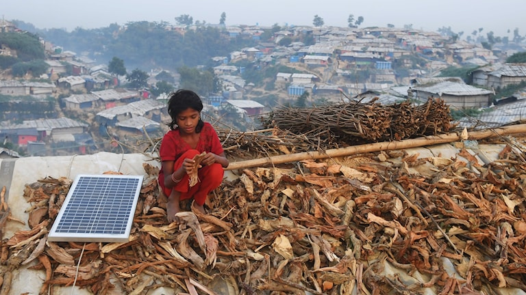 Bild från flyktinglägret Cox:s Basar i Bangladesh.