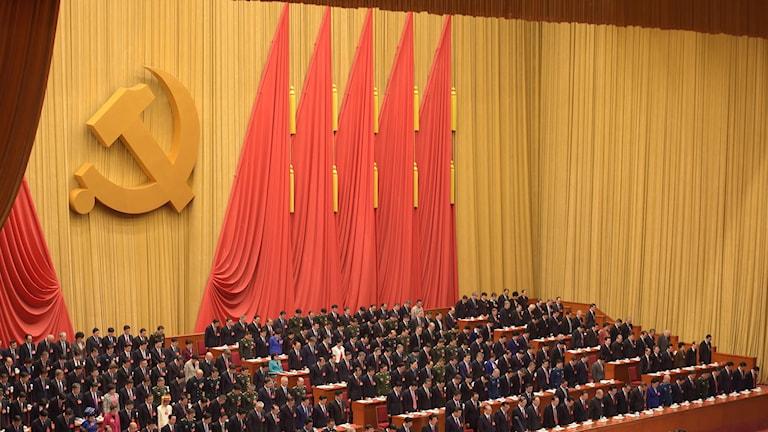 Kongressen inleddes i Kina. Foto: Nicolas Asfouri//TT.